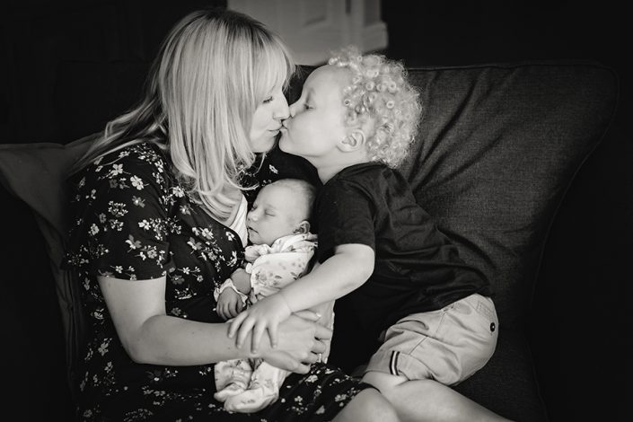 Helen Rowan Photography Chesterfield Newborn Home Baby siblings cuddles home loving
