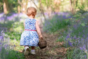 toddler Helen Rowan Photography Bluebells Chesterfield outdoor family photoshoot