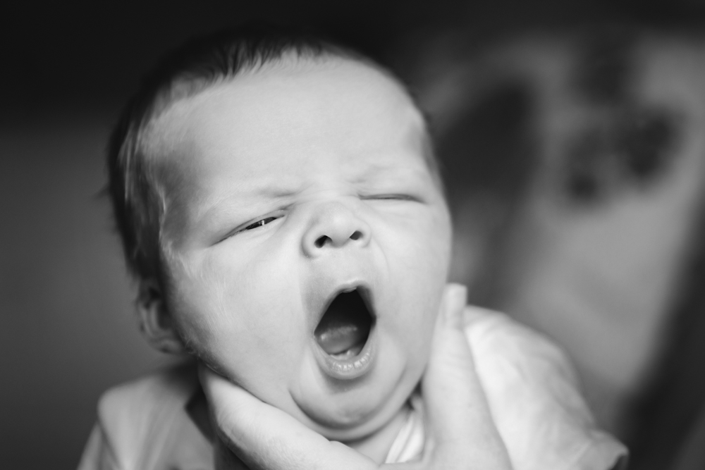 The Beauty of Black and White Newborn Images in you home by Helen Rowan