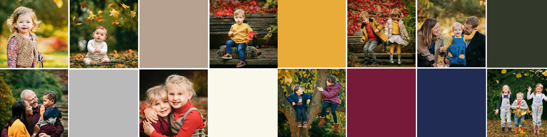 Autumn Mini Sessions 2019 – A Visual Style and Colour Guide